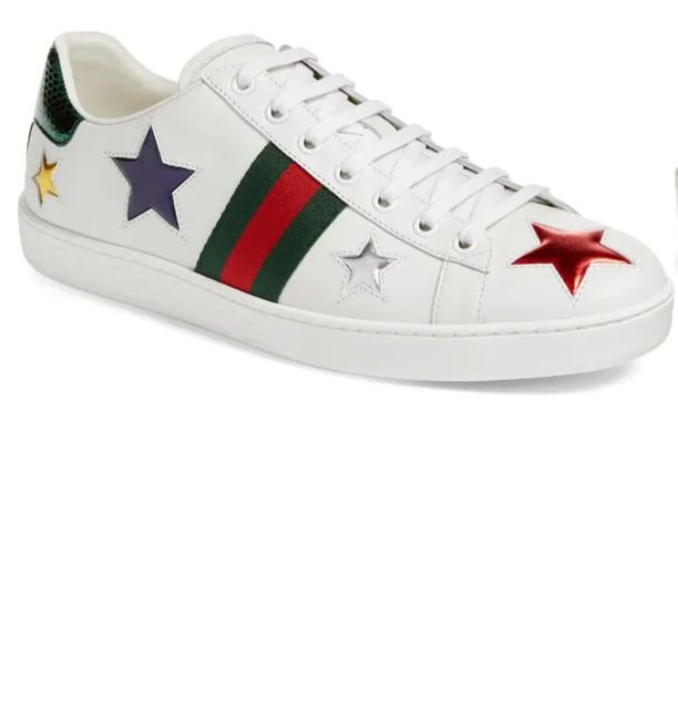 Item - White Ace Star Sneakers Size US 5.5 Regular (M, B)