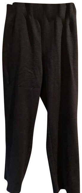 Item - Black Melange Viscose Stretch Pointe Pants Size 22 (Plus 2x)