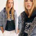Free People Blue Gray Wild Ones Faux Shearling Trucker Jacket Size 12 (L) Free People Blue Gray Wild Ones Faux Shearling Trucker Jacket Size 12 (L) Image 3