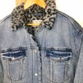 Free People Blue Gray Wild Ones Faux Shearling Trucker Jacket Size 12 (L) Free People Blue Gray Wild Ones Faux Shearling Trucker Jacket Size 12 (L) Image 7