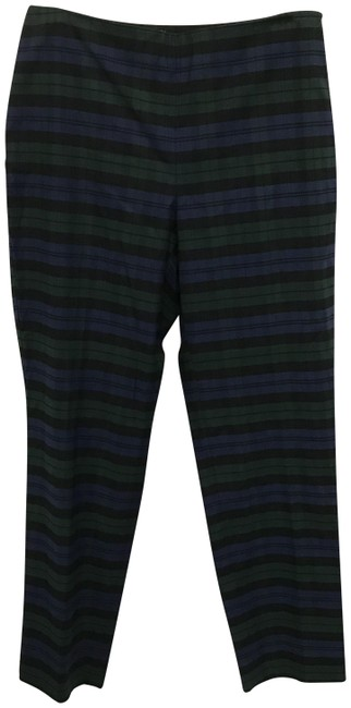 Item - Blue and Green Plaid Curvy Pants Size 6 (S, 28)