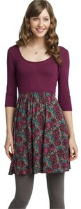 Frenchi short dress Purple Floral Nordstrom Sleeve on Tradesy