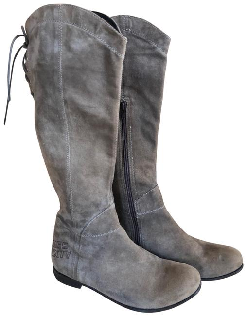 Item - Grey Suede Boots/Booties Size US 8 Regular (M, B)