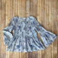 Jane and Delancey Top Blue
