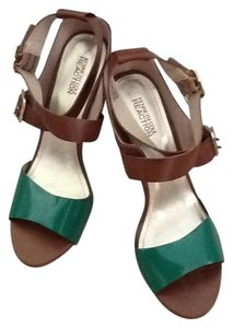 Kenneth Cole Reaction Green/brown Pumps