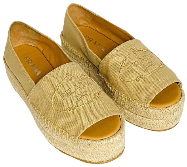 Item - Tan Open-toe Espadrilles Platforms Size EU 39 (Approx. US 9) Narrow (Aa, N)