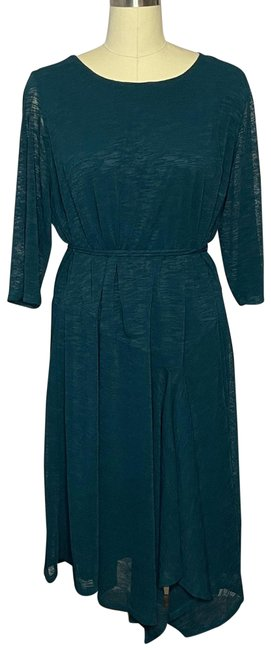 Item - Dark Teal Belted Mid-length Night Out Dress Size 20 (Plus 1x)