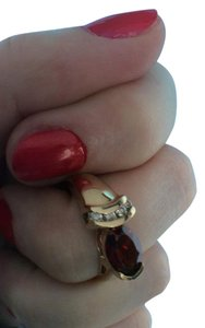 Other 10k YG garnet and diamond ring