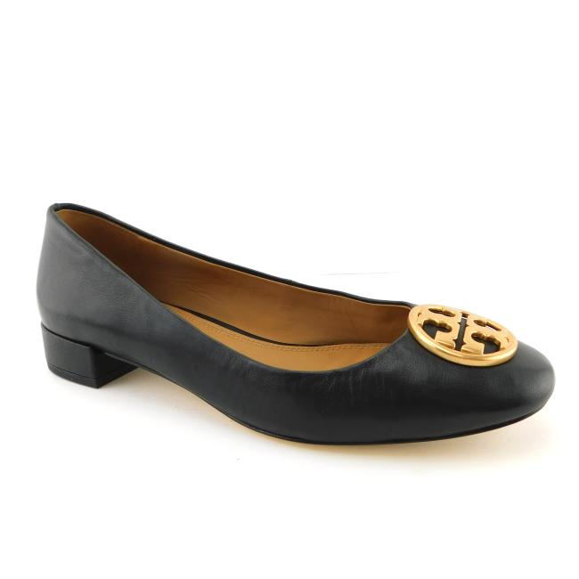 Item - Perfect Black Leather Logo Ballerina Flats Size US 7 Regular (M, B)