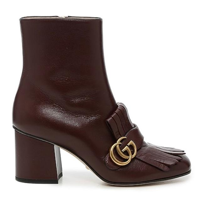 Item - Marmont Gg Logo Fringed Leather Boots/Booties Size EU 35.5 (Approx. US 5.5) Regular (M, B)