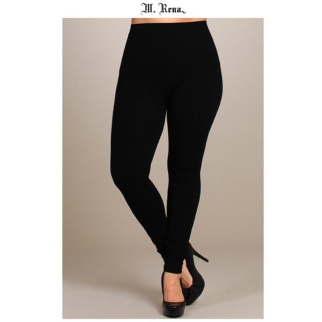 Item - Black Seamless with Tummy Tuck High Waistband Leggings Size OS (one size)