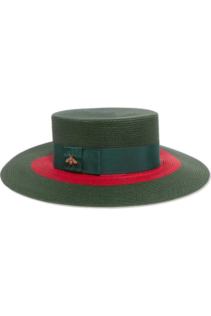 Item - Green Red - Papier Wide Brimmed - Size Medium Hat