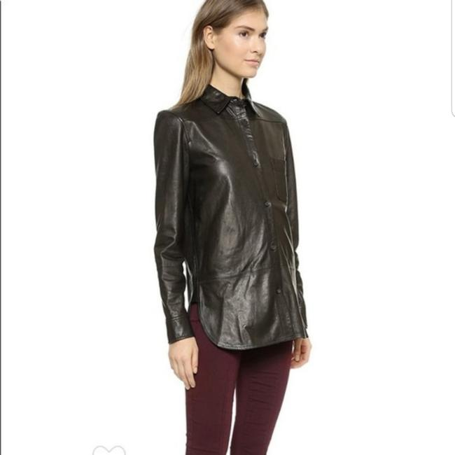 Vince Leather Shirt Button-down Top Size 2 (XS) Vince Leather Shirt Button-down Top Size 2 (XS) Image 1