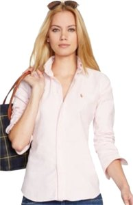 Ralph Lauren Button Down Shirt Pink & White