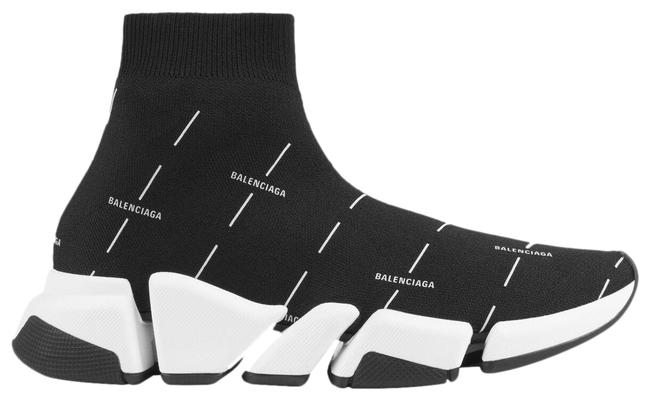 Item - Black and White Eu36/Us6 Speed 2.0 Sock Logo Licence Printed Recycled Knit Sneakers Size EU 36 (Approx. US 6) Regular (M, B)