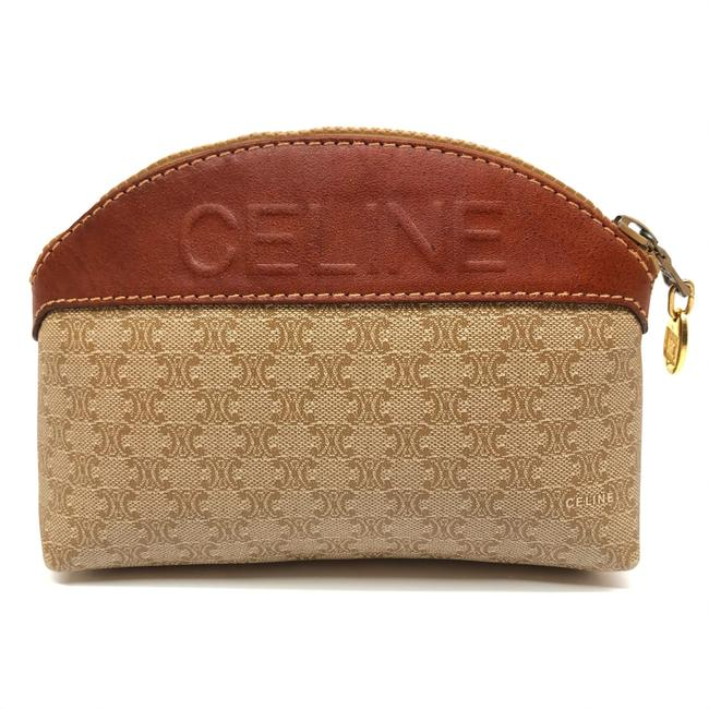 Item - Beige W Womens Canvas Wallet / Coin Purse / / Pouch Logo Cosmetic Bag