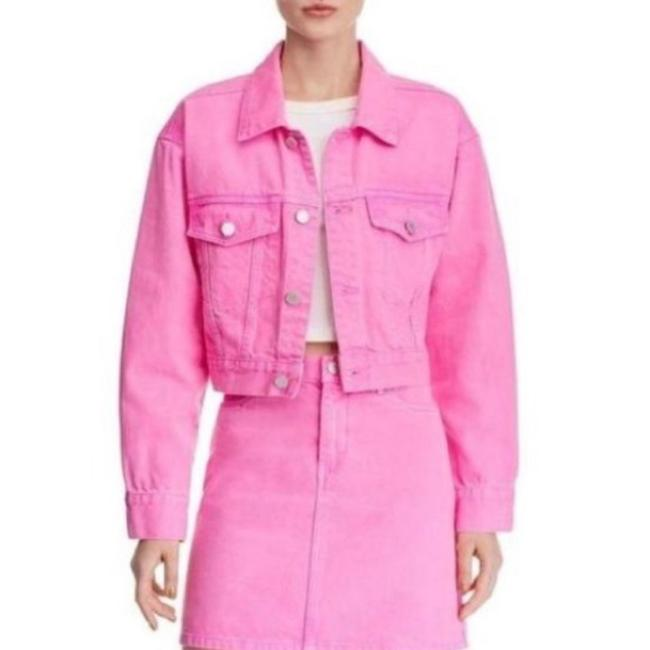 Item - Pink Cropped Jean Small Jacket Size 4 (S)