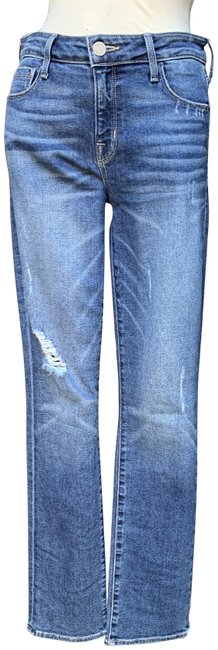 Item - Blue Distressed Slimmy Straight Leg Jeans Size 28 (4, S)