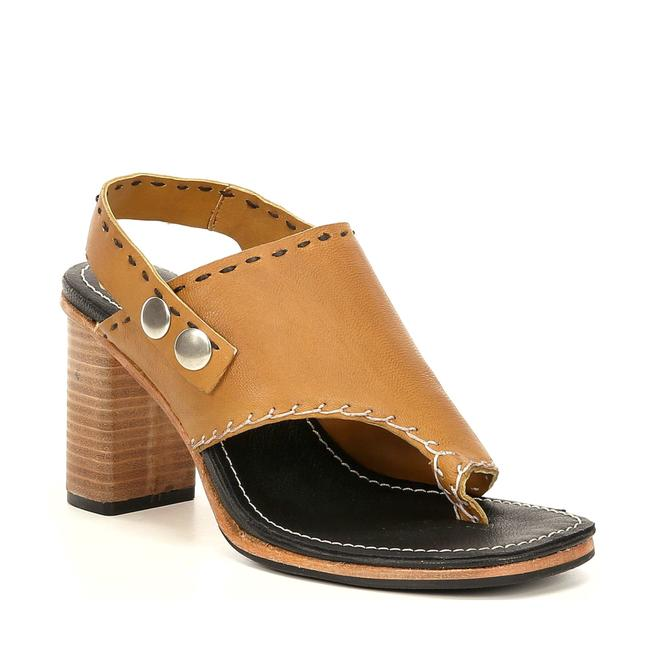 Item - Tan Mustard Marlowe Heels Leather Open Toe Sandals Size EU 38 (Approx. US 8) Regular (M, B)