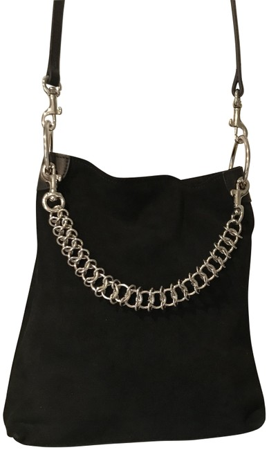 Item - Candybag Black Suede Leather Shoulder Bag