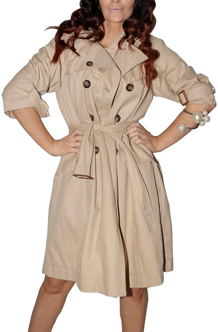 Item - Beige Cotton Double Breasted Coat Size 8 (M)