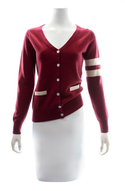 Item - Red Cashmere Sweater Small Cardigan Size 6 (S)