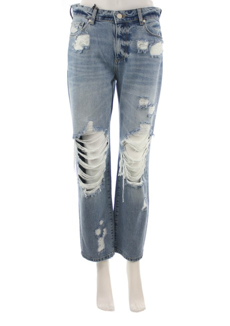 Item - Blue Distressed Noella Jovie Destructed New with Tags Straight Leg Jeans Size 26 (2, XS)