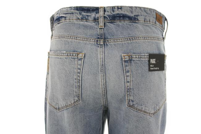 Paige Blue Distressed Noella Jovie Destructed New with Tags Straight Leg Jeans Size 26 (2, XS) Paige Blue Distressed Noella Jovie Destructed New with Tags Straight Leg Jeans Size 26 (2, XS) Image 4