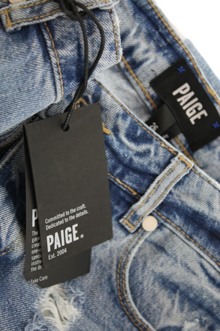 Paige Blue Distressed Noella Jovie Destructed New with Tags Straight Leg Jeans Size 26 (2, XS) Paige Blue Distressed Noella Jovie Destructed New with Tags Straight Leg Jeans Size 26 (2, XS) Image 5