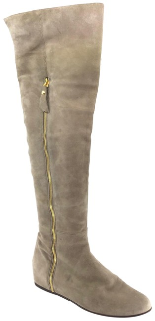 Item - Taupe Suede Over The Knee Hidden Wedge Boots/Booties Size US 9 Regular (M, B)