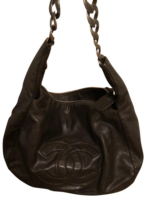 Item - Antique Chain Pebbled Satchel Brown Leather Hobo Bag