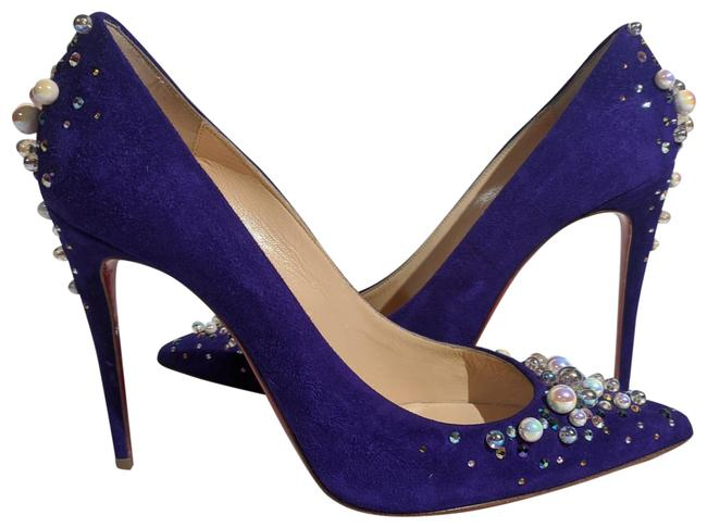 Item - Purple Suede with Pearl Accents Pumps Size EU 38.5 (Approx. US 8.5) Regular (M, B)