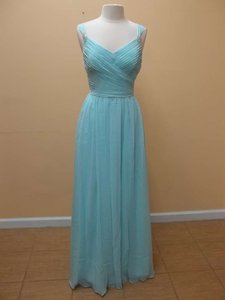 Mori Lee Mint Luxe Chiffon 20412 Formal Bridesmaid/Mob Dress Size 12 (L)