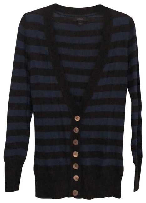 Item - Black and Navy Button Cardigan Size 8 (M)