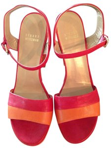 Stuart Weitzman Orange and Red Platforms