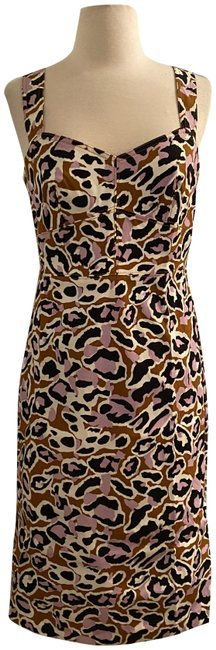 Item - Adobe Orchid Contrast-stitched Sheath In Stretch Faille. Short Work/Office Dress Size 8 (M)