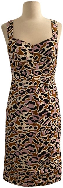 Item - Adobe Orchid Contrast-stitched Sheath In Stretch Faille. Short Work/Office Dress Size 10 (M)
