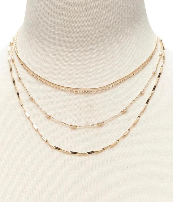 Item - Gold Pearl Layer Necklace