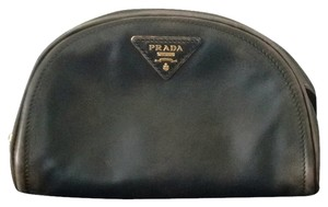 Prada Pouch Zippered Black Clutch