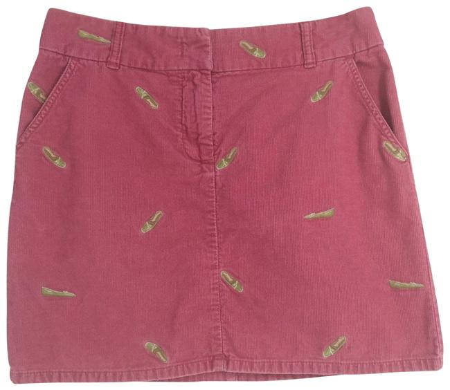 Item - Pink Corduroy Shoe Mini Straight Pockets Skirt Size 4 (S, 27)