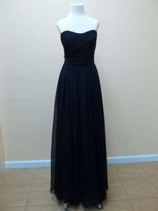 Mori Lee Navy Luxe Chiffon 20414 Formal Bridesmaid/Mob Dress Size 8 (M)