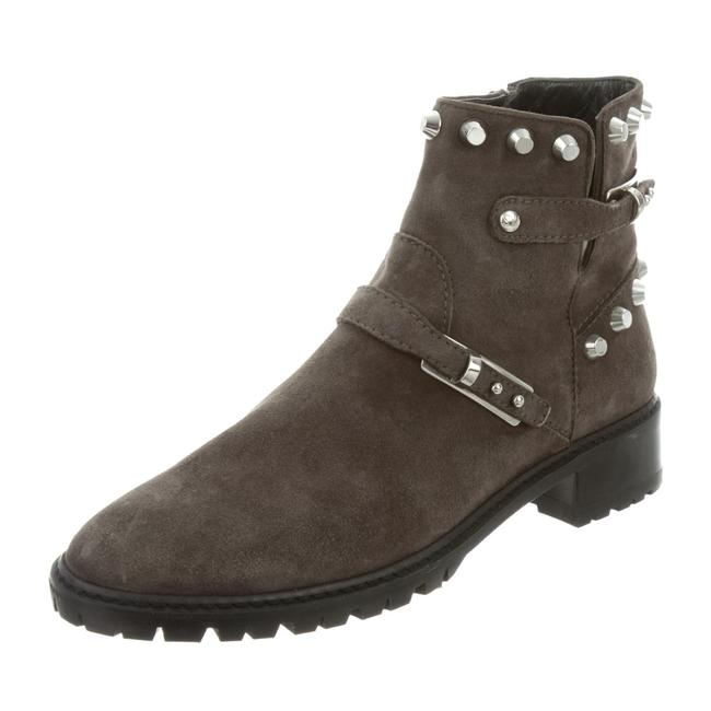 Item - Grey 'go West' Studded Suede Moto Ankle Boots/Booties Size US 8 Regular (M, B)