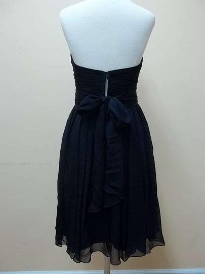 Mori Lee Navy Luxe Chiffon 204140 Formal Bridesmaid/Mob Dress Size 6 (S)