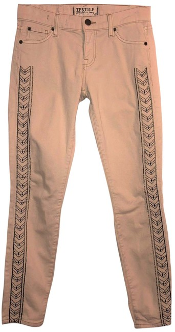 Item - Light Tan Textile Ozzy Embroidered Capri/Cropped Jeans Size 26 (2, XS)