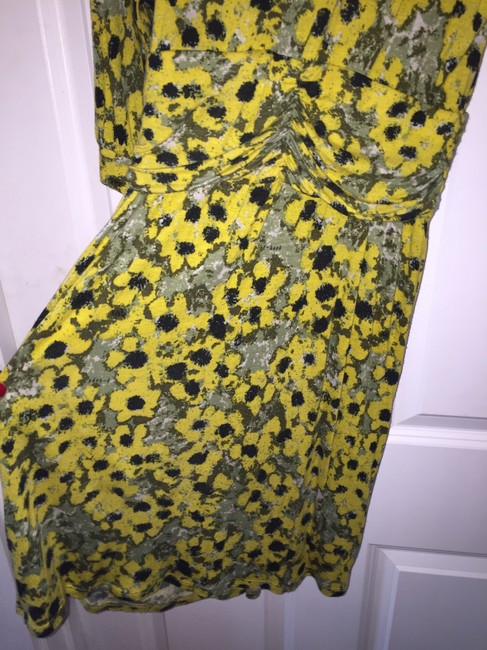 T-Bags Los Angeles short dress yellow and black on Tradesy