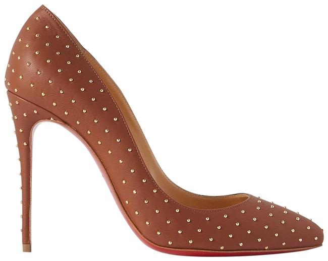Item - Brown Pigalle Follies 100 Studded Leather Pumps Size EU 34 (Approx. US 4) Regular (M, B)