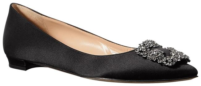 Item - Black Hangisi Embellished Satin Point-toe Flats Size EU 38.5 (Approx. US 8.5) Regular (M, B)