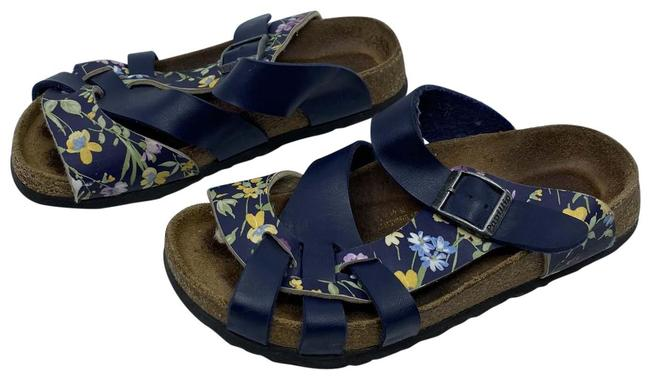 Birkenstock Blue/Brown Unisex Birki's/Tatami/Betula Or Alpro Sandals Size US 4 Regular (M, B) Birkenstock Blue/Brown Unisex Birki's/Tatami/Betula Or Alpro Sandals Size US 4 Regular (M, B) Image 1