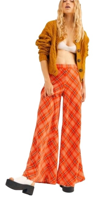 Item - Orange Plaid Wonderland Retro Pants Size 4 (S, 27)