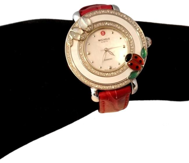 Item - Red Cloette Lady Bug with Crocdile Band Watch